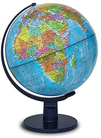 """Waypoint Geographic Light Up Globe for Kids – Scout 12"""" Desk Classroom Decorative Illuminated Globe with Stand, More Than 4000 Names, Places – Current World Globe"""
