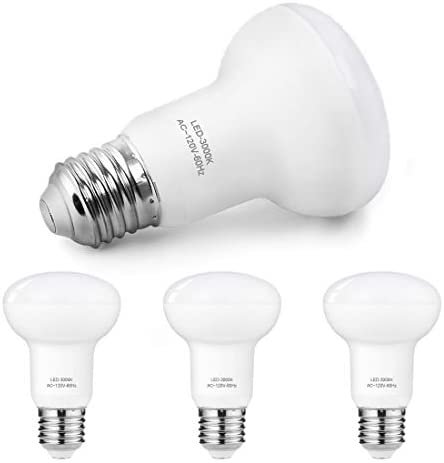 BR20 LED Dimmable Bulbs, 7W(65W Incandescent Bulbs Equivalent), 3000K Warm White, R20 LED Flood Light Bulbs Indoor/Outdoor, E26 Base, 700 Lumen, Perfect for Recessed and Track Lighting (4 Pack)