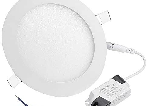 DELight 12W 6″ LED Recessed Lighting 10 Pack Panel Ceiling Light Ultra-thin Cool White 100W Equivalent Downlight