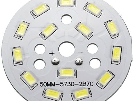 uxcell 300mA 7W 14 LEDs 5730 SMD LED Chip Module Aluminum Board Neutral White Super Bright 50mm Dia
