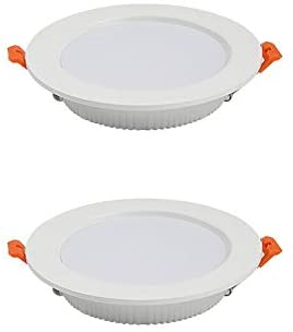 Sunny Lingt 2 Pack 7W LED Recessed Spotlight Ceiling Lights, Φ3.9in Ultra Thin Round Panel Downlights, 3000K 4000K 6000K Cutout 70-90mm Thickness 30mm AC110-240V, Accent Lamp Wash Wall Lighting