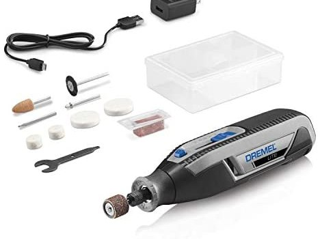 Dremel Lite 7760 N/10 4V Li-Ion Cordless Rotary Tool Variable Speed Multi-Purpose Rotary Tool Kit, USB Charging, Easy Accessory Changes – Perfect For Light-Duty DIY & Crafting