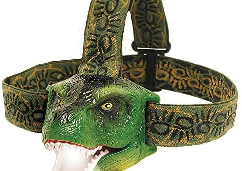 The Original DinoBryte LED Headlamp – T-Rex Dinosaur Headlamp for Kids | Dinosaur Toy Head Lamp for Boys, Girls, or Adults | Perfect for Camping, Hiking, Reading, and Parties