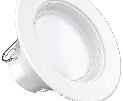 Sunco Lighting 4 Inch LED Recessed Downlight, Baffle Trim, Dimmable, 11W=40W, 3000K Warm White, 660 LM, Damp Rated, Simple Retrofit Installation – UL + Energy Star