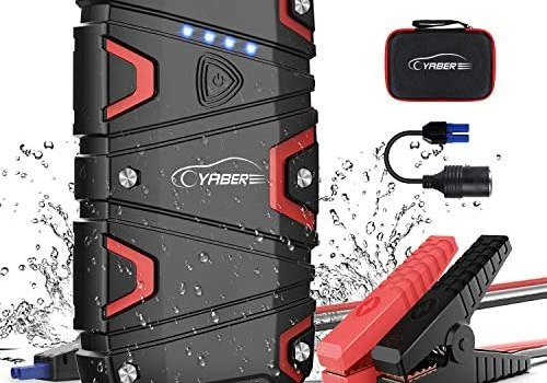 Car Jump Starter, YABER 1200A Peak 15000mAh Battery Jump Starter (up to 7.5L Gas/6.0L Diesel) Portable Jumper Starter 12V Waterproof with QC3.0 Outputs, Type-C Port, LED Flashlight Car Booster Charger