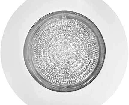 PROCURU 6″ Fresnel Glass Lens with White Metal Shower Trim – for Wet Locations – for 6″ Recessed Can Lights – UL Listed (White-Fresnel (1-Pack))
