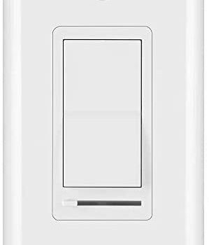 BESTTEN 0-10V Dimmer Switch, Single-Pole or 3-Way, 120/277V, for LED Panel Lights, Fluorescent Fixtures and Other Low Voltage Power Supply/Driver/Dimmable Ballasts, UL Listed, White