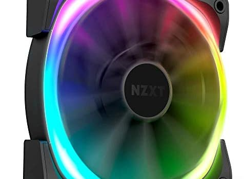 NZXT AER RGB 2 – HF-28120-B1 – 120mm – Advanced Lighting Customizations – Winglet Tips – Fluid Dynamic Bearing – LED RGB PWM Fan for Hue 2 – Single (HUE2 Lighting Controller Not Included)