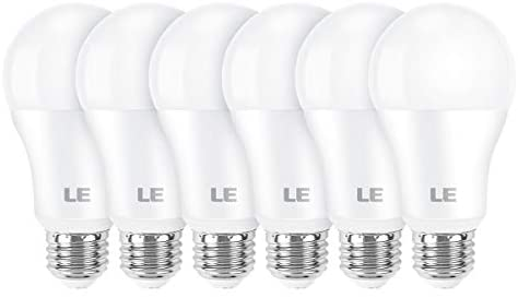 LE 100W Equivalent LED Light Bulbs, 14W 1600 Lumens 2700K Warm White Non-Dimmable, A19 E26 Standard Base, UL/FCC Listed, 15000 Hour Lifetime, Pack of 6