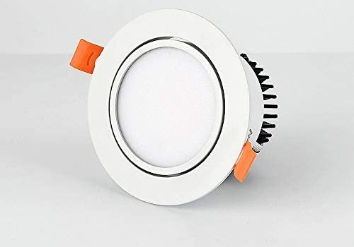 Sunny Lingt LED Downlight Round Spot Light 7W Recessed Ceiling Lighting Fixture, 3000K 6000K Cutout 75mm AC110-240V, Household Picture Display Accent Lamp, Background Decor Wash Wall Lighting