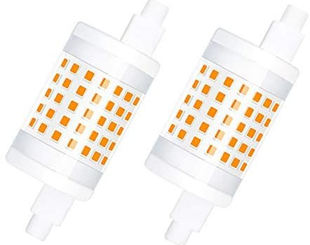 Luxvista Dimmable R7s LED Bulbs 78mm (3 Inch) – 10W Double Ended R7s T3 J78 J Type LED Light 100W Halogen Raplacement Bulb for Floodlight Workshop Lighting 120V Daylight 6000K (2-Pack)