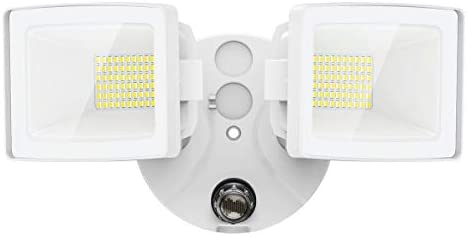 Olafus 50W Dusk to Dawn LED Outdoor Lighting, 5500LM LED Security Lights, IP66 Waterproof Exterior Flood Light with Photocell, Dual Head Outside LED Lamp for Backyard, Garden, Porch, 5000K Cool White