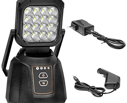 LED Work Light Magnetic,48W Rechargeable Flood Light Portable Outdoor Camping LED Light Emergency Flashing Inspection Light for Fishing Hiking(UPS, FedEx)