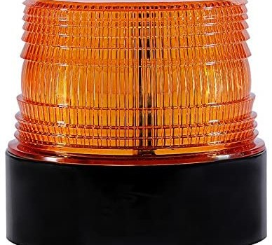 LED Beacon Lights 12V Amber Strobe Warning Light for Cars Trucks Vehicles,Wireless,Emergency Safety Use,Rechargeable,Magnetic