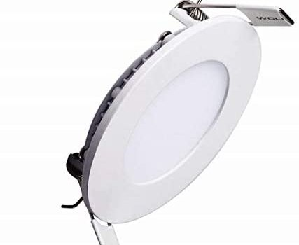 LAIN 6W LED Panel Light Dimmable Round Ultrathin Ceiling Light Fixtures, 40W Recessed Incandescent Equivalent,4000K Nautral White 480lm Downlight 4.1 Inch Cut Hole Lamp,120V LED Isolation Driver