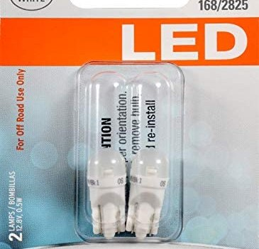 SYLVANIA – 194 T10 W5W LED White Mini Bulb – Bright LED Bulb, Ideal for Interior Lighting – Map, Dome, Cargo and License Plate (Contains 2 Bulbs)