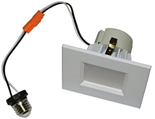 Goodlite G-19798 12w 4 Inch Square LED Downlight, 75W Equivalent, 900 Lumens, Dimmable,Damp Rated, CRI90, UL Listed, E26 Base, 2700k Warm White