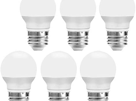 GALYGG LED Light Bulbs 25 Watt Equivalent, Daylight 5000K 270LM A15 3W LED Bulb E26 Medium Screw Base, CRI 90+ Non Dimmable, for Home Lighting Decorative – 6 Pack