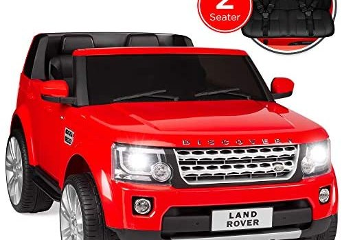 Best Choice Products 12V 3.7 MPH 2-Seater Licensed Land Rover Ride On w/ Parent Remote Control, MP3 Player – Red