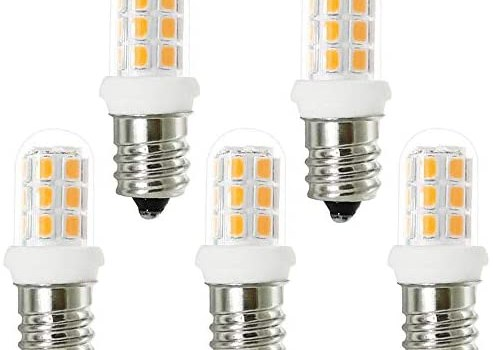 E12 Led Bulbs Replacement for 15W Himalayan Salt Lamps, Chandeliers, Night Lights,Wax Warmers, E12 Candelabra Base, C7 Replacement Bulbs, Warm White 3000K