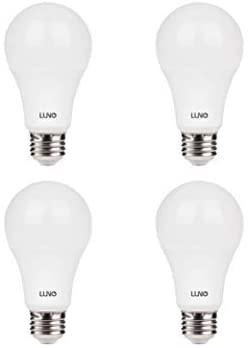 LUNO A19 Dimmable LED Bulb, 11W (75W Equivalent), 1100 Lumens, 4000K (Neutral White), Medium Base (E26),UL & ENERGY STAR (4-Pack)