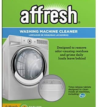 Affresh W10501250 Washing Machine Cleaner, 6 Tablets: Cleans Front Load and Top Load Washers, Including HE