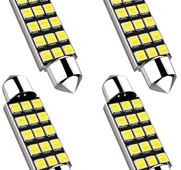 42MM Festoon 578 LED Bulbs, Extremely Bright 15smd 2835 Chipset 212-2 Led Bulbs, DE3425 DE3423 Replacement Bulbs for Car Interior Dome Map Courtesy Lights 1.64 inches 211-1 569 Led Bulbs,4PCS