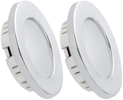 Dream Lighting 2W LED Ceiling Light – Silver Shell Recessed Downlight Pack of 2