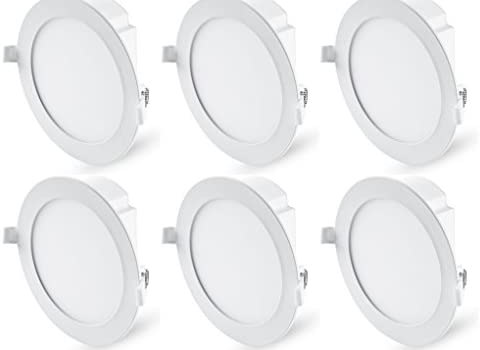 Hyperikon 6 Inch LED Recessed Lights with Integrated Junction Box, 11.6W=65W, Dimmable Downlight, UL, Energy Star, Crystal White, 6 Pack