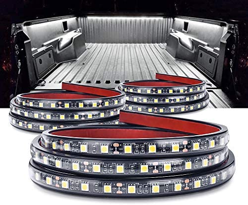MICTUNING 3Pcs 60 Inch Truck Bed Lights – White Waterproof LED Light Strip with On-off Switch Fuse Splitter Cable for Truck Jeep Pickup RV SUV Vans Cargo Boats and More