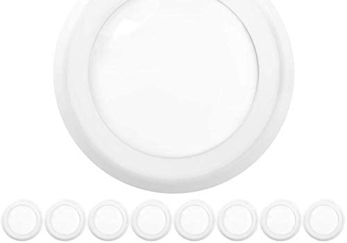 Sunco Lighting 16 Pack 5 Inch / 6 Inch Flush Mount Disk LED Downlight, 15W=100W, 3000K Warm White, 1050LM, Dimmable, Hardwire 4/6″ Junction Box, Recessed Retrofit Ceiling Fixture