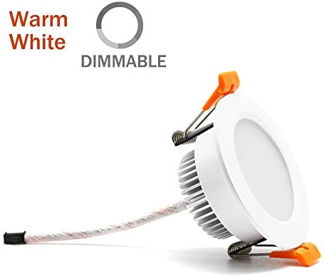 3 inch Dimmable LED Downlight, 110V 5W, 3000K Warm White Retrofit Recessed Lighting, CRI 80 with LED Driver, No Can Needed
