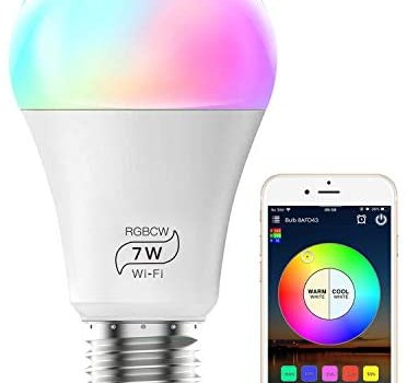 MagicLight Smart Light Bulb (No Hub Required), E26 A19 7W (60w Equivalent) Multicolor Dimmable WiFi LED Bulb, Compatible with Alexa Google Home and Siri