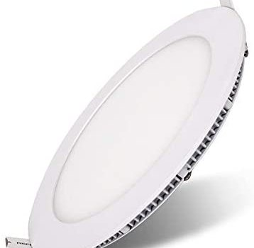 Koliyn Ultra Thin Round Embedded Integrated Downlight High Brightness LED Recessed Spotlights Aluminum White Grille Panel Ceiling Lights European Fashion Floodlight Office Mall Ceiling Flat Lamps