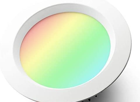 GLEDOPTO Smart ZigBee 9W Recessed Ceiling Downlight Dimmable RGB CCT 2700~6500K White Light LED Lighting Compatible with Hue Bridge SmartThings Amazon Echo Plus Alexa App/Voice Control (Hub Required)