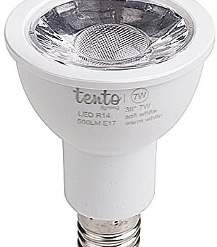 Tento Lighting E17 Intermediate Base, Table Lamp Spot Light Fixtures Energy Saving Halogen LED Reflector Bulb, Warm White, 5w (450-480lm) (2750k – 3000k)