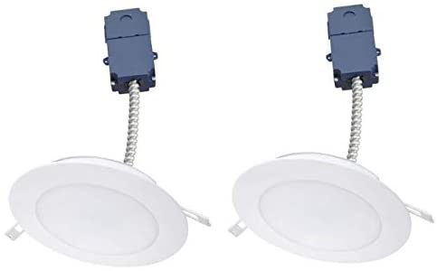 (Pack of 2) Sylvania 75030, Ultra LED 4 Inch Microdisk Downlight Kit, 700 Lumen, 3000k, 120/277v Input Voltage, 0-10v Dimmable, LED/MD4/700/830/UNV, No Housing Required [2-Pack]