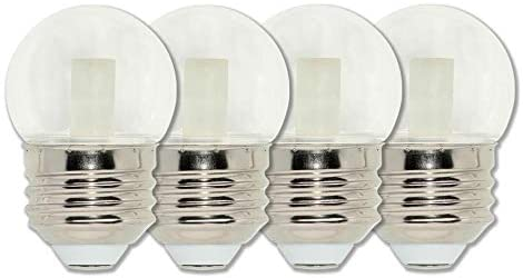 Westinghouse Lighting 4511320 7.5-Watt Equivalent S11 Clear LED Light Bulb with Medium Base, Four Pack, 4 Count