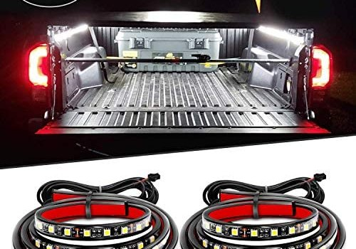 "Nilight 2PCS 60"" 180 LEDs Bed Strip Kit with Waterproof on/Off Switch Blade Fuse 2-Way Splitter Extension Cable for Cargo, Pickup Truck, SUV, RV, Boat ,2 Years Warranty"