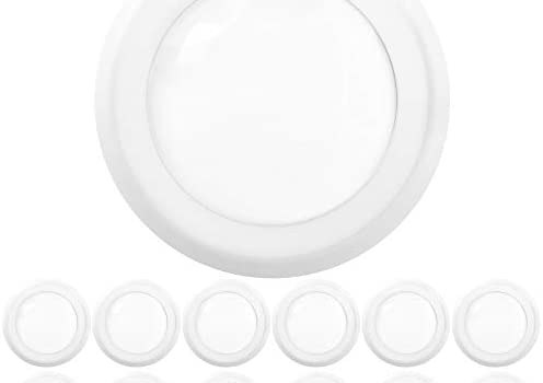 Sunco Lighting 12 Pack 5 Inch / 6 Inch Flush Mount Disk LED Downlight, 15W=100W, 3000K Warm White, 1050LM, Dimmable, Hardwire 4/6″ Jbox, Recessed Ceiling Fixture – Energy Star