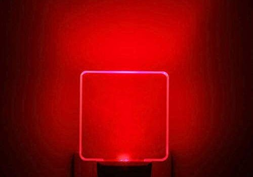UL Listed 0.5W Plug in Red LED Night Light, Dusk to Dawn Sensor, 2 Pieces