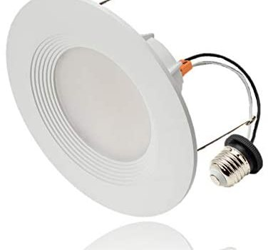 """LED One 6"""" Downlight, 12.5W Equivalent to 100W, E26, 5000K, dimmable, 950lm (White), 4pc per Pack"""