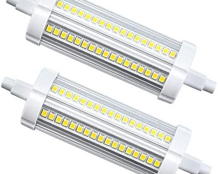 20W R7S J118 LED Light Bulbs Lustaled 120V R7S Base T3 Double Ended 200W Tungsten Halogen Bulb Replacement Bulbs for Workshop Lighting Floor Lamps (Daylight 6000K, 2-Pack)