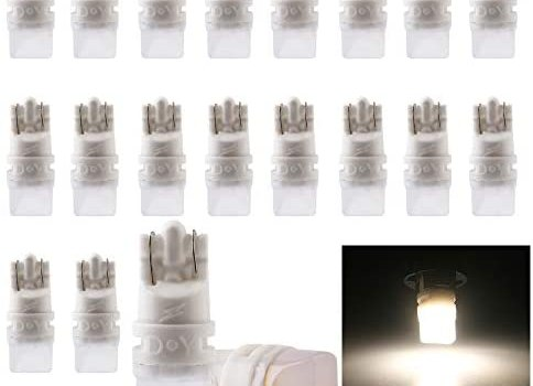 GLL DC6V / 6.3V LED 194 W5W T10 168 Light Bulbs for Car Interior Map Dome License Plate Door Side Marker Light for Pinball Machine 5630 Chip 2SMD Warm White Pack of 20
