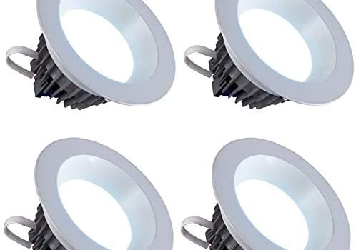 LED 6″ Inch Downlight 18W; 120V; 1500 Lumens; Dimmable; Wet Location Rated CRI>80; Energy Star and Intertek Certified (Day Light 5000K)- 4 Pack