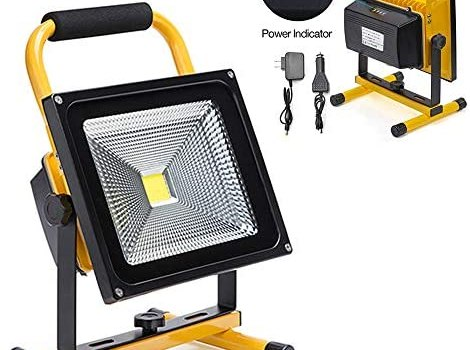 50W LED Work Light Rechargeable Portable Flood Light Battery Powered Flood Light for Outdoor Lighting,Camping,Hiking,Fishing,Car Repairing,Construction Site