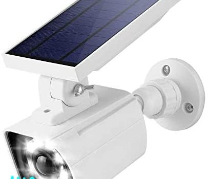 Motion Sensor Solar Security Lights Outdoor JACKYLED LED Solar Powered Flood Lights with 3 Lighting Modes Wireless Wall Mount Spotlights for Garden Porch Patio Door Pathway (White, 1-Pack)