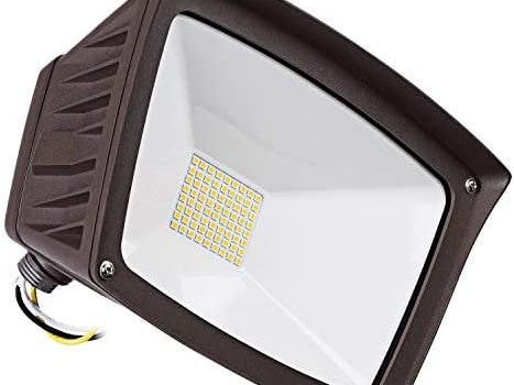 LEONLITE LED Outdoor Flood Light with Knuckle Mount, 40W (350W Eqv.), 4800lm Super Bright Wall Washer Security Light, IP65 Waterproof, 3000K Warm White, for Yard/Parking Lot/Advertising Board