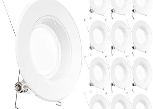 Sunco Lighting 12 Pack 5/6 Inch LED Recessed Downlight, Baffle Trim, Dimmable, 13W=75W, 5000K Daylight, 1050 LM, Waterproof, Simple Retrofit Installation – UL + Energy Star