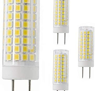 All-New G8 Led Bulb, 75W Halogen Bulb Replacement, Dimmable 7W G8 Led Lamps, G8 Bi-pin Base Bulb, AC120V 720lm, Under Cabinet Counter Light, Kitchen Lighting and Puck Lights,Daylight White 4pack